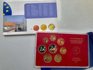 2004年 德國歐羅 精鑄幣 套裝