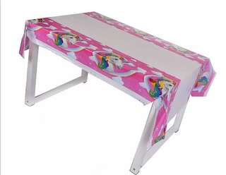 💕 Unicorn theme party supplies - tablecloth / table cover