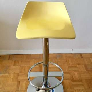 Yellow Swivel Bar Stool
