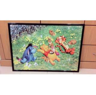 Winnie The Pooh Framed Jigsaw Puzzle