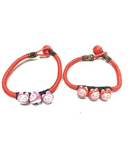 Maneki Neko lucky cat waving cat bracelet