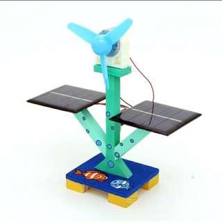 STEM 太陽能風扇 DIY科技小製作材料包  小學生手工玩具