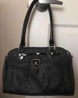 Guess Logo Satchel Handbag Purse
