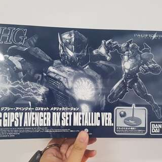 LIMITED HG Gipsy Avenger DX Set METALLIC Ver.+ LED & Stand