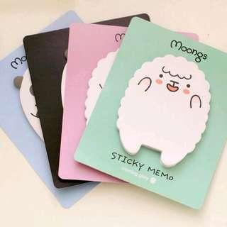 Moongs Post-it Note Memo pad