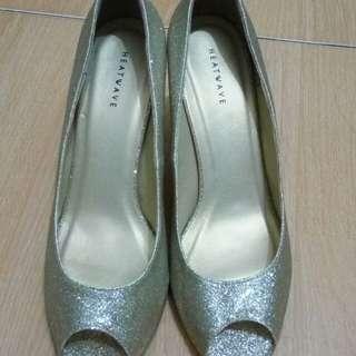 (Freeong dlm smg) Heatwave gold bling shoes