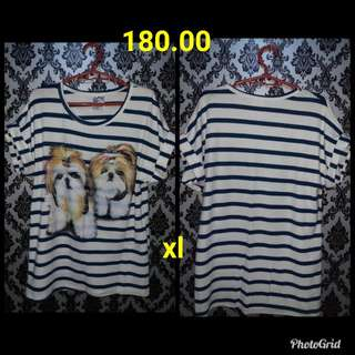 Preloved shirt puppy print size xl