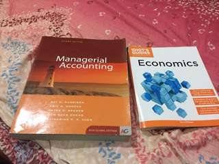 Managerial Accounting and Intro to Economics