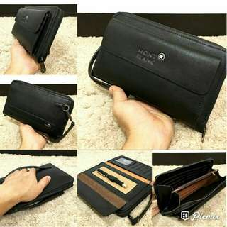 montblanc handbag with hand strap