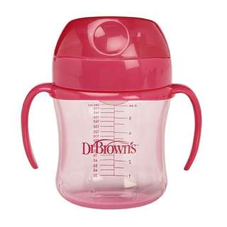Dr Brown's Soft Spout Transition Cup Pink (180ml)