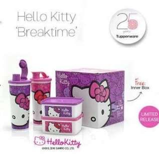 Hello Kitty Tupperware BreakTime Set