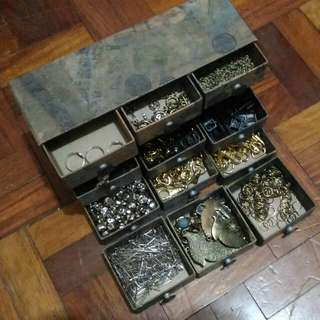 Jewelry Making Accessories + Papemelroti Organizer (Bundle)