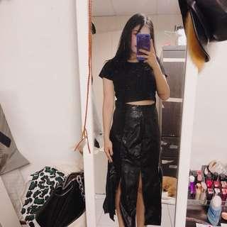 傘狀的黑色裙
