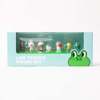 Line friends figure set 一套7個