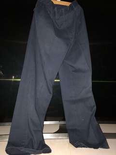 seluar sekolah panjang biru size 28