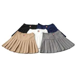 Korean Mini Skirt Pleated Skirt with Safety Shorts