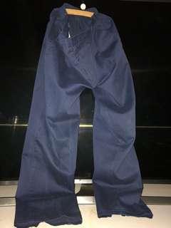 seluar sekolah panjang biru size 29