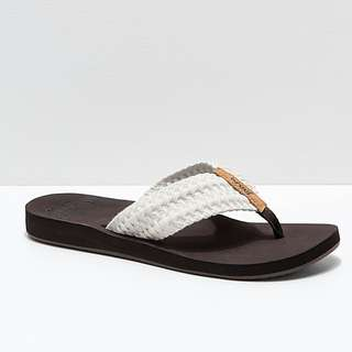 3c7e87e856535f Reef Cushion Threads Vintage White Sandal