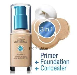 Instock | Covergirl Outlast Stay Fabulous 3in1 Foundation