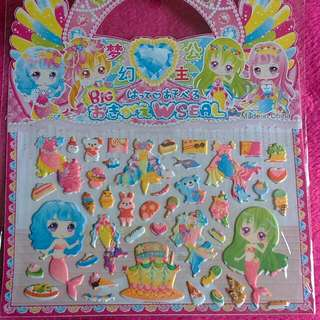 👰 Two Cute Mermaid Paper Doll Sticker