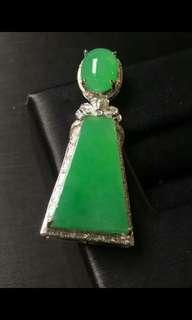 翡翠Jade18K金鑲嵌吊墜