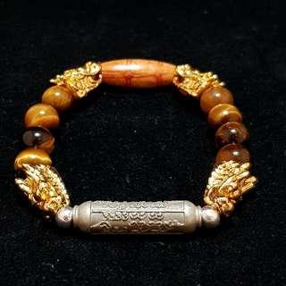 Custom Handmade Tiger Eye Crystal Bracelet for Customer's Takruts