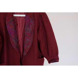 古著羊毛大衣-001