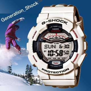 RARE-SEEN GSHOCK: 1-YEAR OFFICIAL WARRANTY : BRAND NEW IN BOX Originally Authentic G-SHOCK Resistant WHITE WINTER SPORTY WATCH in  ABSOLUTELY TOUGHNESS SUPER ILLUMINATOR LIGHTS Best For Most Rough Users & Unisex : GLS-100-7ER