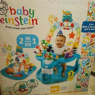 Baby Einstein 2-in-1 Lights & Sea Activity Gym & Saucer Mainan Bayi  Kado Untuk Bayi Baru Lahir