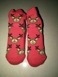 Reindeer Baby Socks