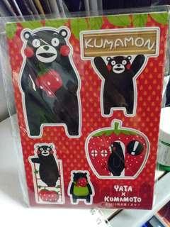 【包郵】全新限量版一田Kumamon熊本熊草莓磁石貼一套