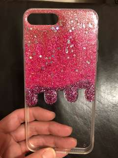 IPhone 8 Plus glitter jelly case