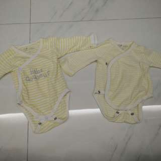 NB preemie long sleeved onesie