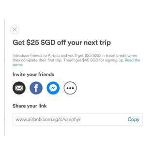 Airbnb Referral Code: www.airbnb.com.sg/c/vzephyr
