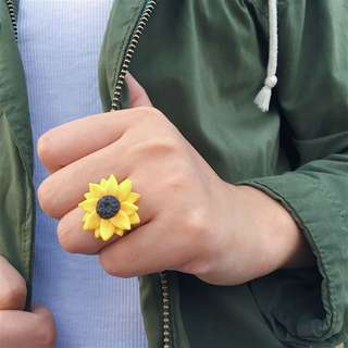 Sunflower and Daisy Rings