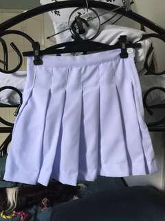 Legendaire White Tennis Skirt