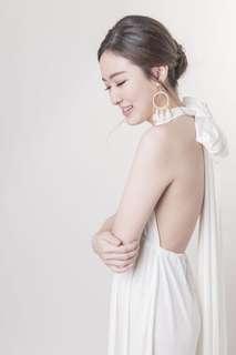 multiway white long dress