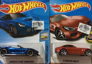 HW Corvette C7 Z06 Convertible & '15 Merc AMG