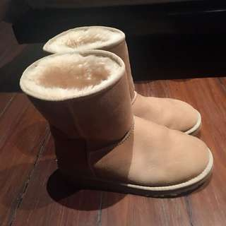 authentic nude beige uggs winter boots