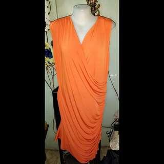 Overlap Sleeveless Dress