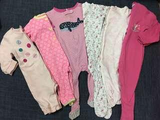 Baby sleepsuit set