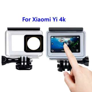 🚚 Underwater Diving 45m Waterproof Housing Case with Touch Backdoor Cover for Xiaomi Yi 4K 4K+ Action Camera Accessories