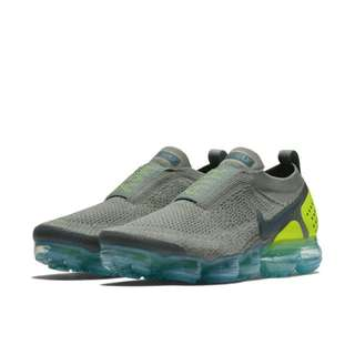 Authentic NIKE AIR VAPORMAX FLYKNIT MOC 2 Green/Turquoise/Volt