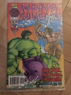 Old vintage comic book Hulk and Wolverine