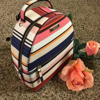 Kate Spade Sammi Laurel Way Berber Stripe Pink Multi Backpack