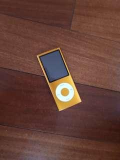 Orange iPod Nano 4th Generation