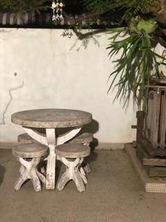 Old Garden Table and Chairs