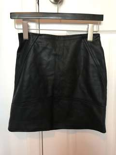 Asos Faux Leather Skirt Size 0