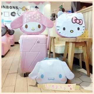 Sanrio 玉桂狗 Melody Hello Kitty 旅行袋单肩包 可插拉杆箱使用