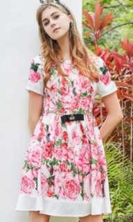 Runway Floral Printed Dress (sale)